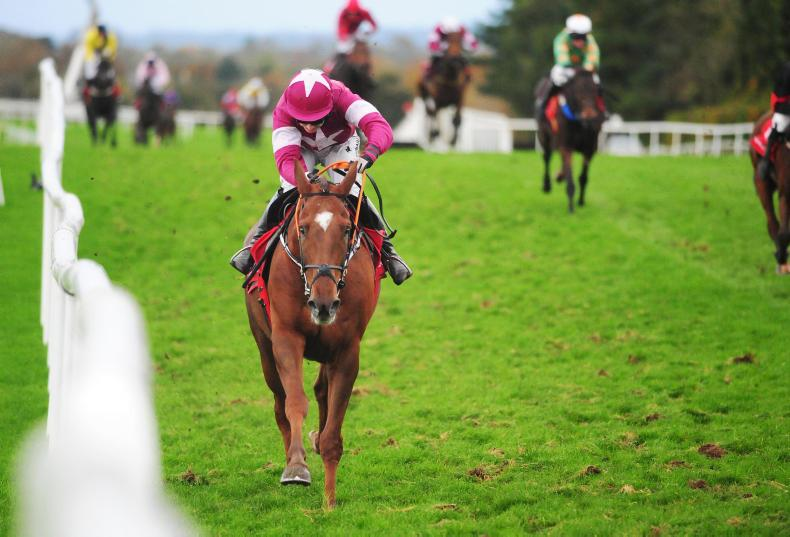Felix Desjy stringing out a field at Punchestown