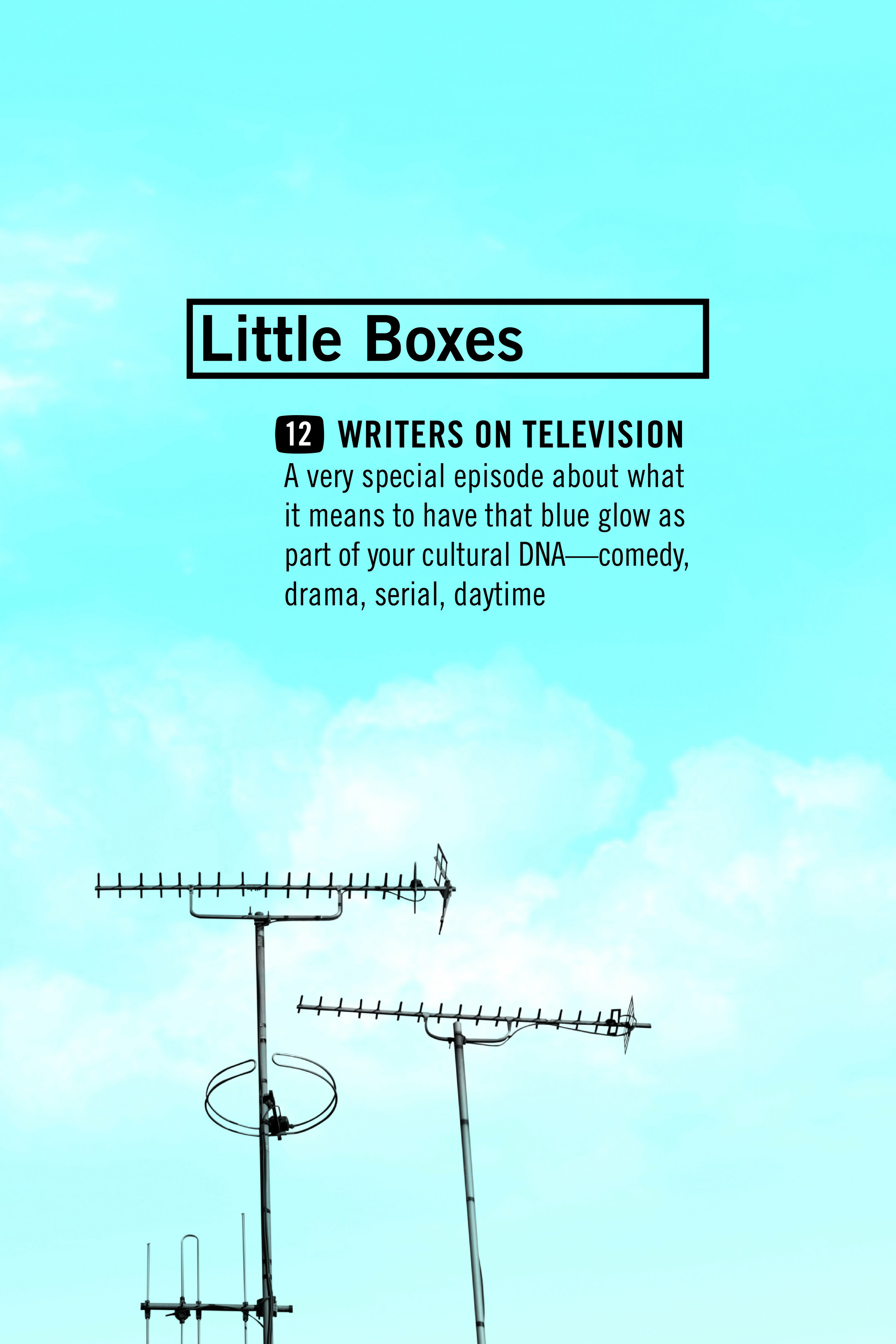 Little Boxes: Twelve Writers on Television , ed. Caroline Casey. Coffee House Press, August 2017. 208 pp.
