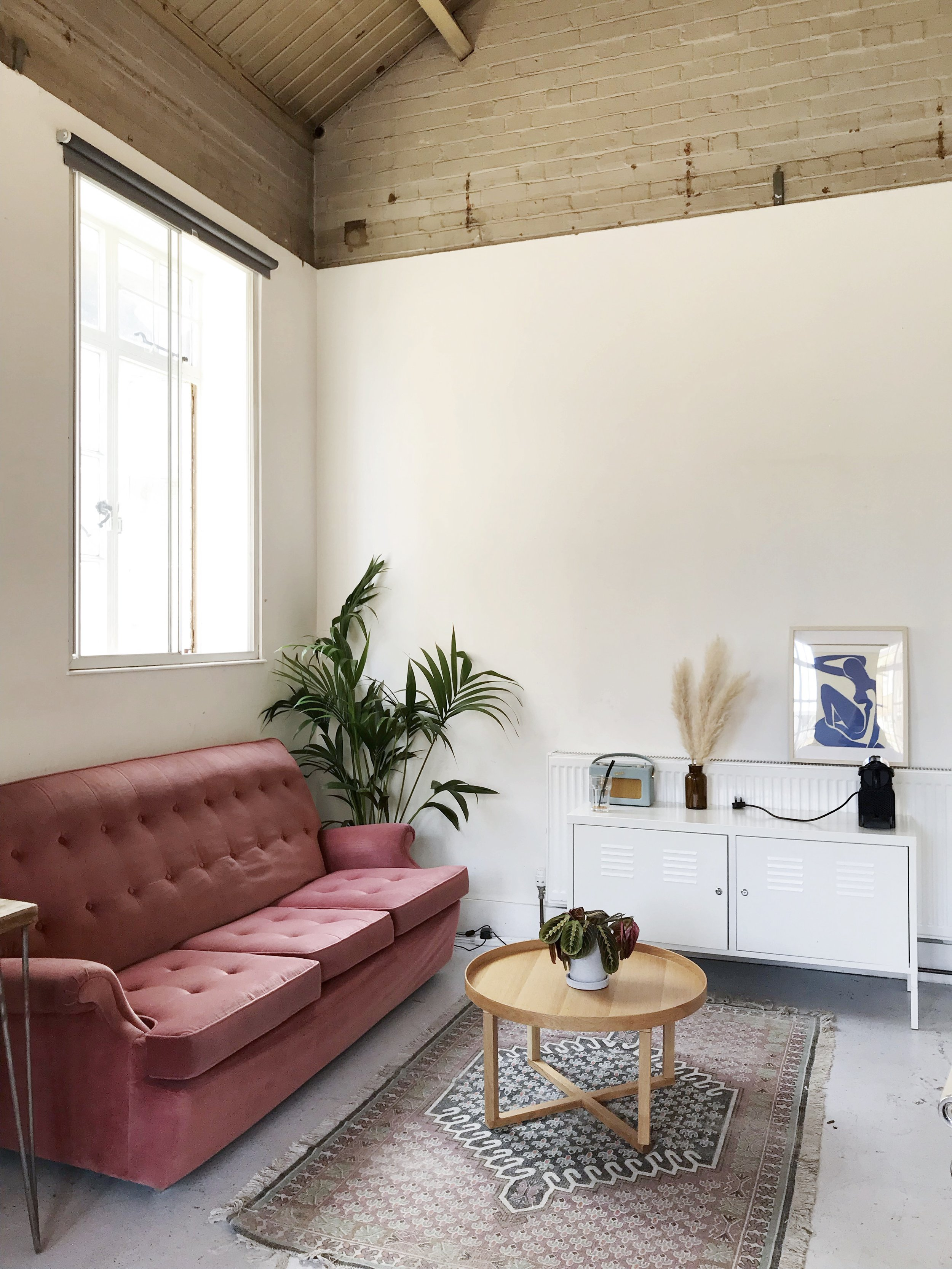A view of our versatile  Residents Lounge , based on the Lower Ground Floor of our building, transformed in a cozy  co-working space  for the month of June by  The Work Club .