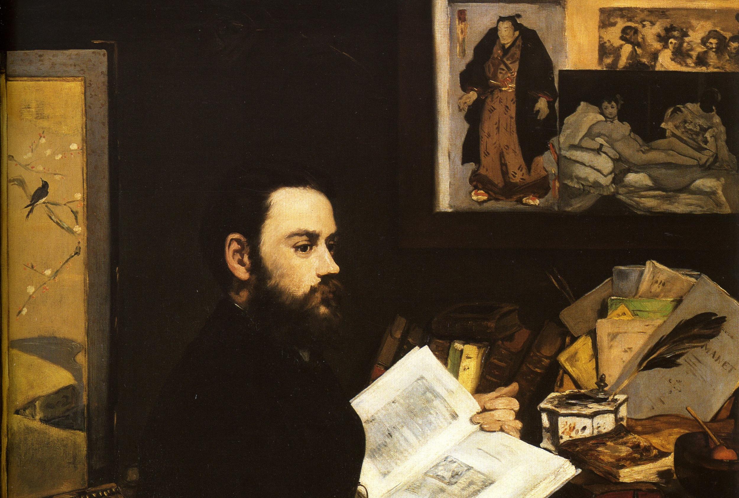 Zola y sus raíces culturales.  Portrait d'Émile Zola  de Édouard Manet (1868) .