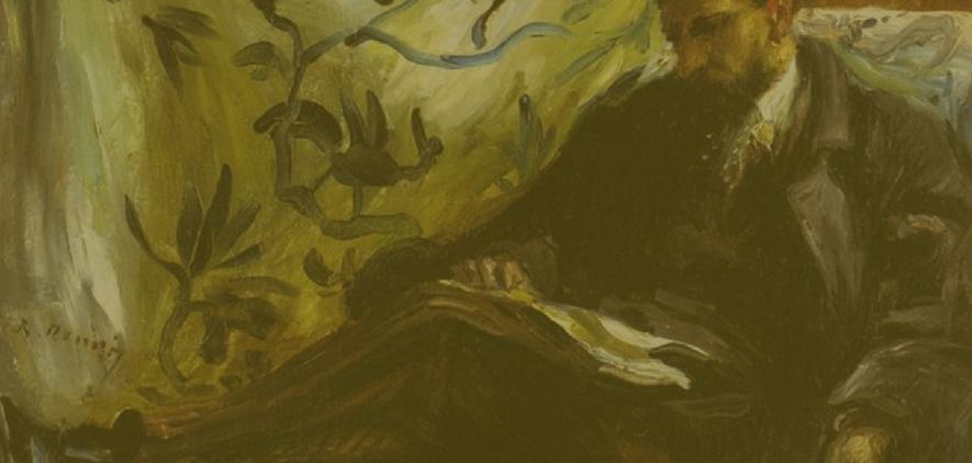 Portrait of Edmond Maitre (The Reader) Pierre-Auguste Renoir