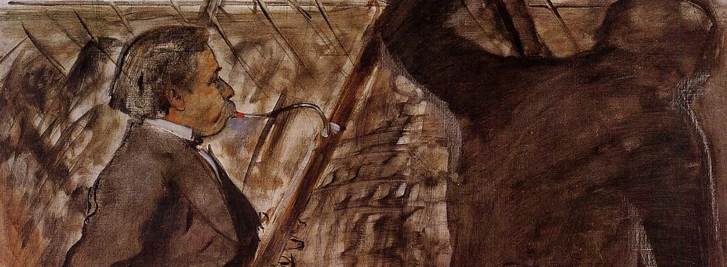 Músicos en la orquesta , Degas.