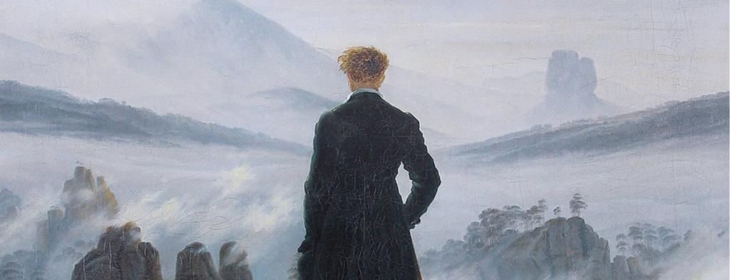 La belleza salva.  El caminante sobre el mar de nubes , Caspar David Friedrich, 1818.
