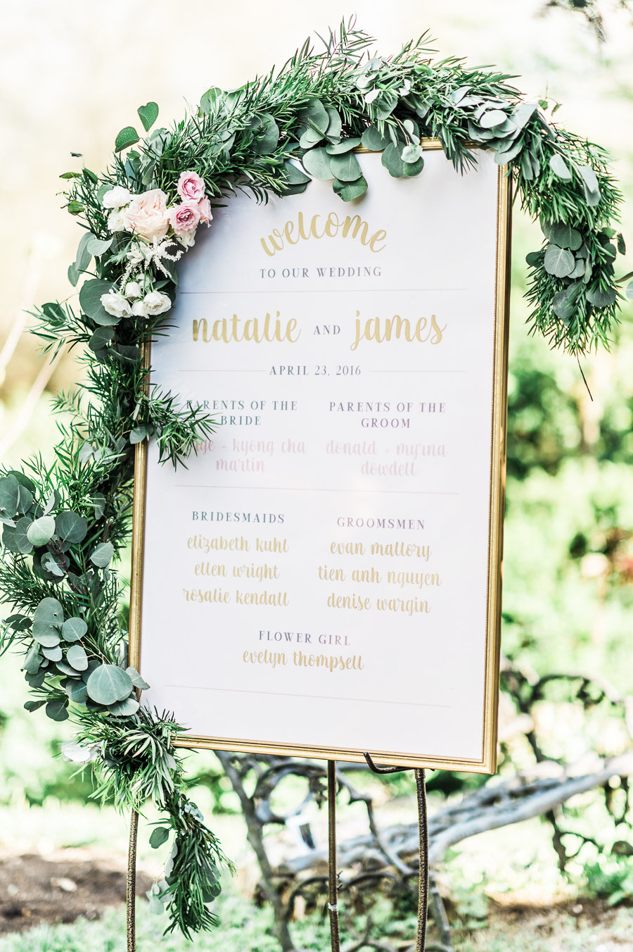 wedding-welcome-sign-and-seating-chart-third-clover-stephanie-messick-photo-blossom-and-vine-kim-newton-weddings