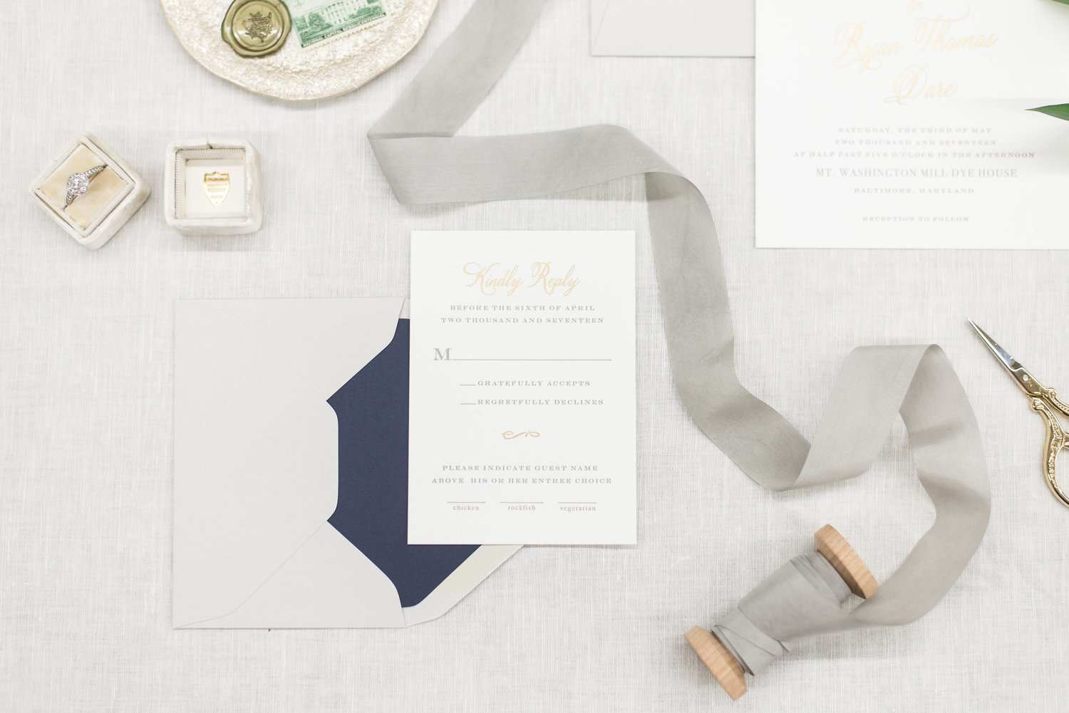 How To Write Your Wedding Response Card Third Clover Fine