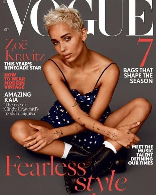 Cover: @voguemagazine  Celebrity: Zoe Kravitz Hair Stylist: @nikkinelms  #impaqbeauty #nikkinelms #zoekravitz #voguemagazine #celebrityhairstylist #cover #magazinecover
