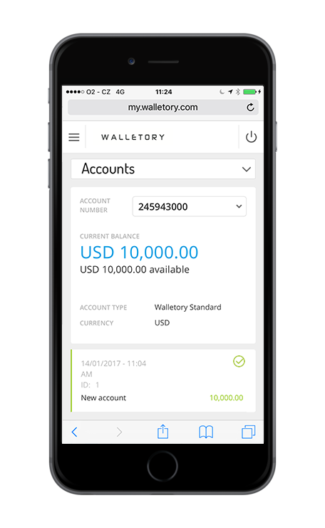 Security e-account — Walletory on