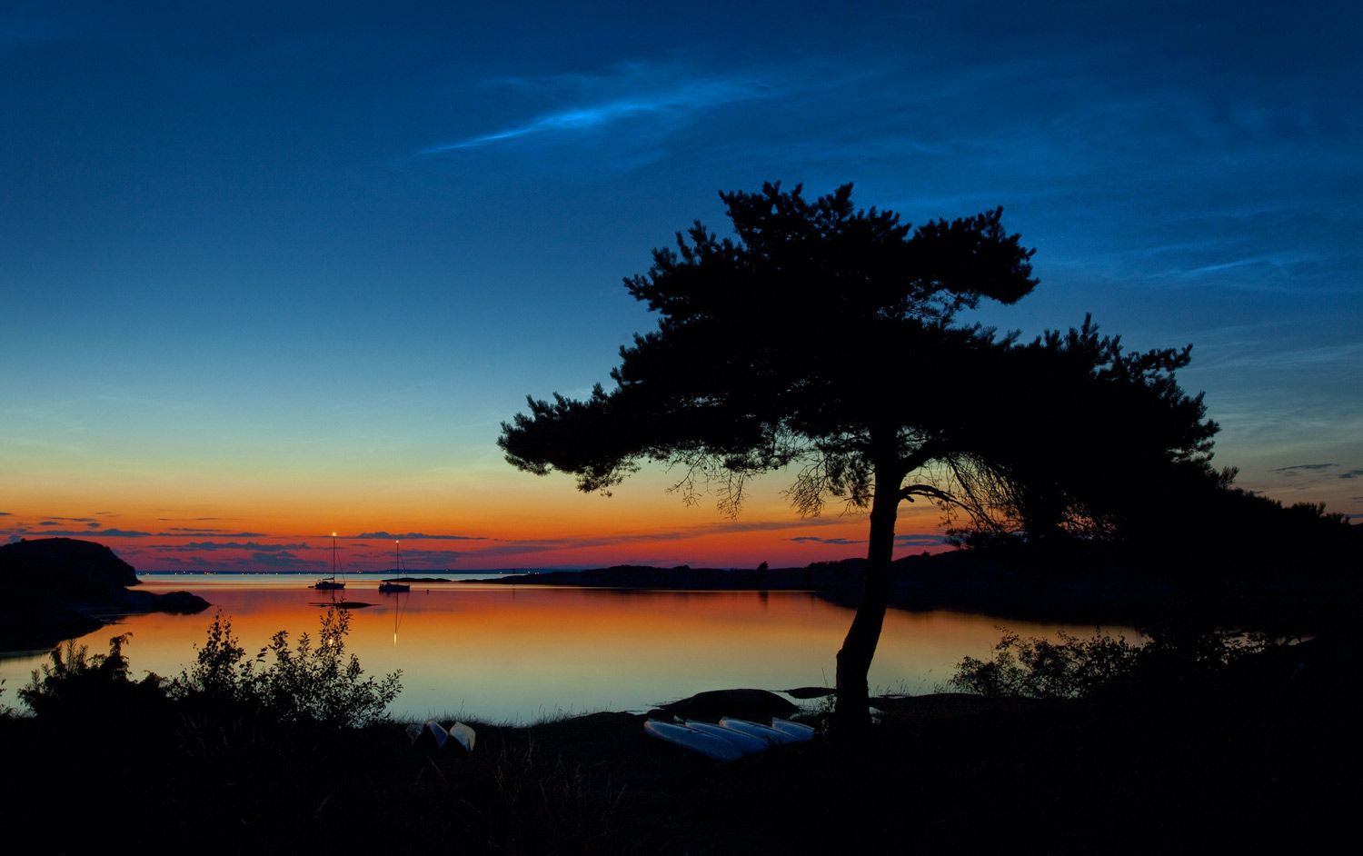 It is typically Scandinavian summer with    LIGHT NIGHT    NATURE