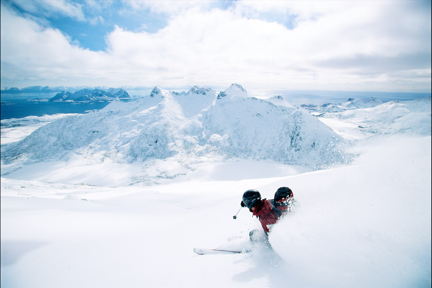It is typically Scandinavian to ski downhill from the Mountains to the    SEA    THINGS TO DO
