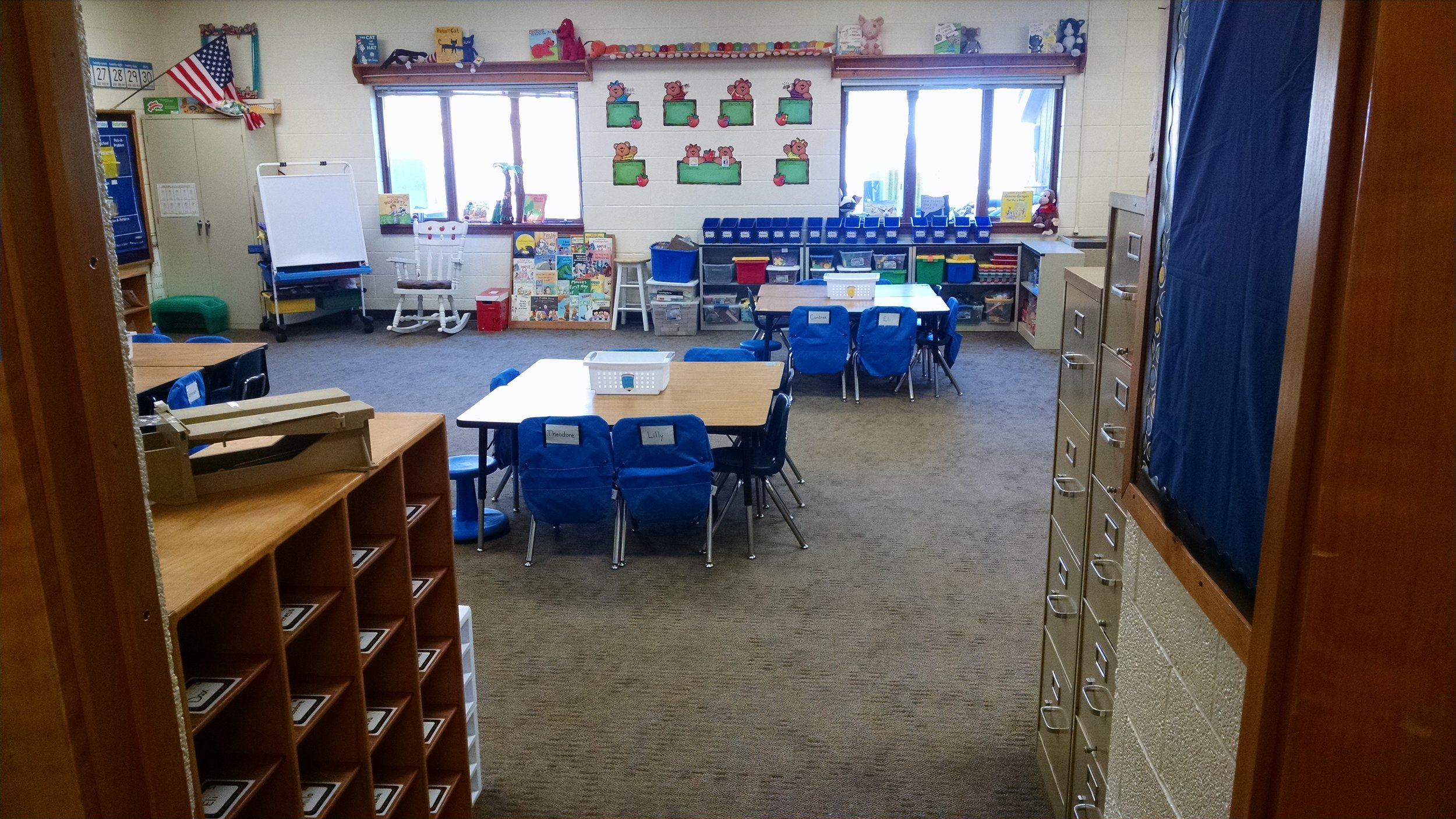 Classrooms ready Day 3 - Teachers were in Friday resetting classrooms. Any traces of smoke smell are gone and rooms are ready for students!