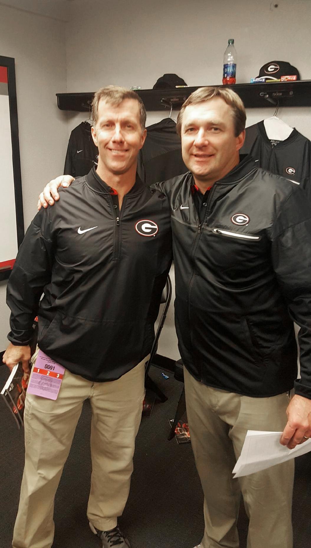 Tom and University of Georgia Head Coach, Kirby Smart