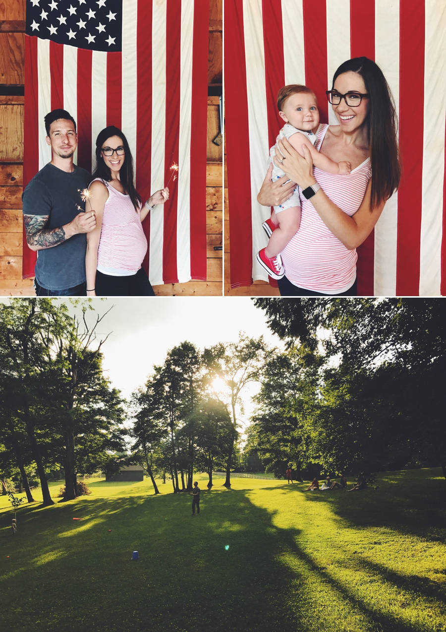 23 weeks at our annual July 4th bash. It was such a fun day with 60 of our closest friends and family. Love these memories at our home!