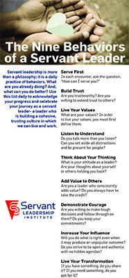 The Nine Behaviors of a Servant Leader