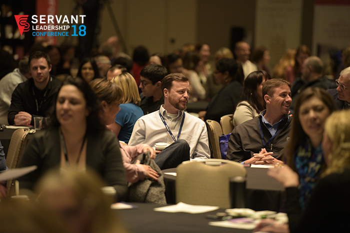 Attendees engaged in discussion during one of our many breakouts.