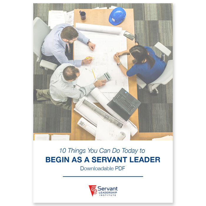 10 Things You Can Do Today to Begin as a Servant Leader - We are often asked how to begin to be a servant leader. Here are 10 things you can start to do today to make a difference in your leadership. They may seem very elementary, but they will change your orientation to service and begin to change the culture of your team.Customers receive a secure link to the downloadable PDF file lasting 24 hours after the first download.