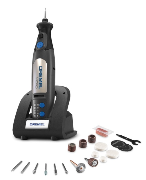 The Dremel Micro : Lights up so you can see the quick of the nail. Available from Bunnings for about $96