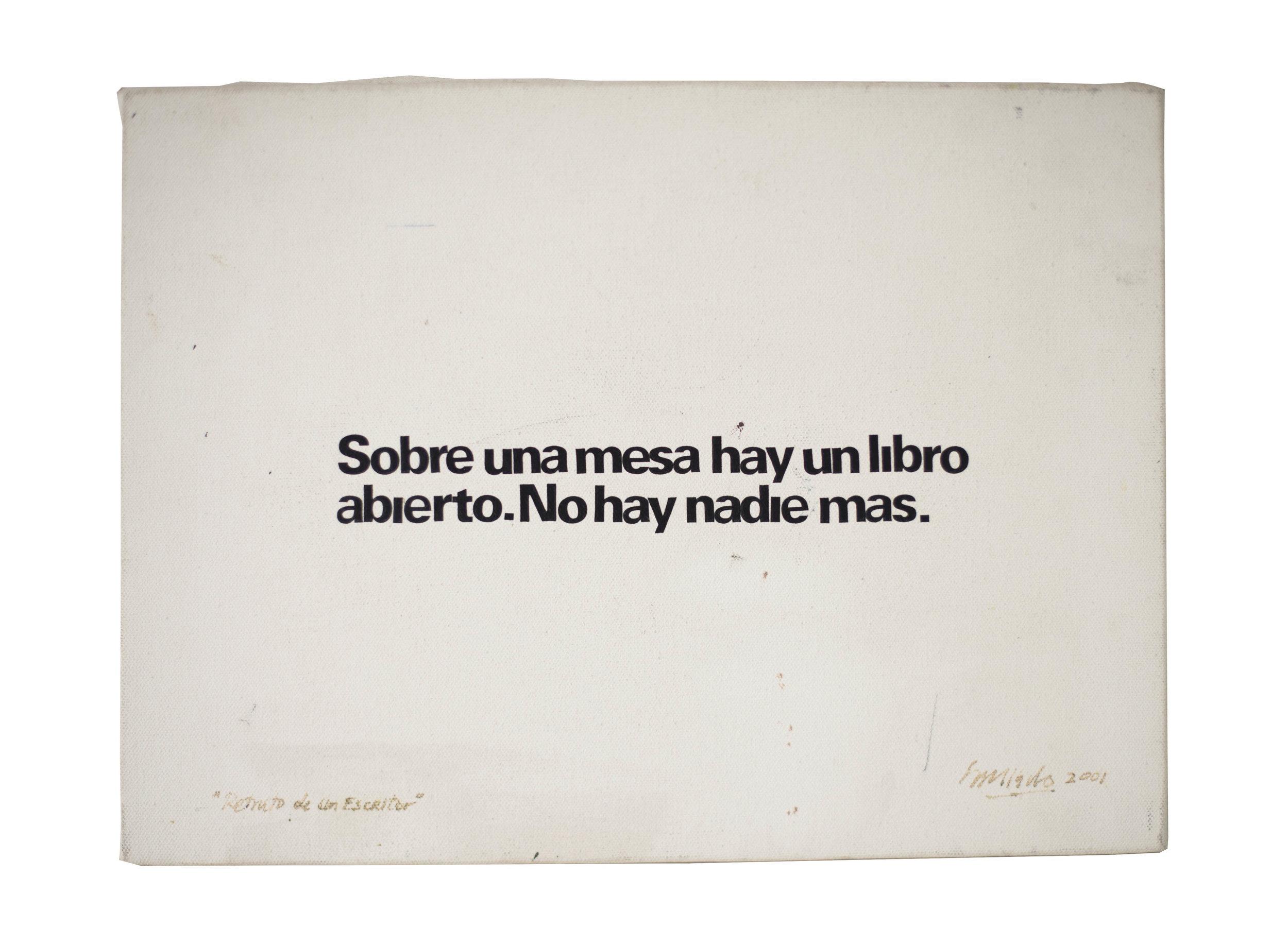 Retrato de un escritor  - Bernardo Salcedo, 2001
