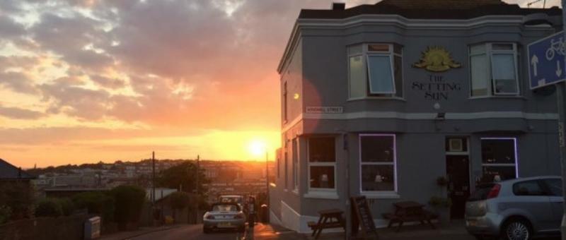 The Setting Sun on Windmill Street