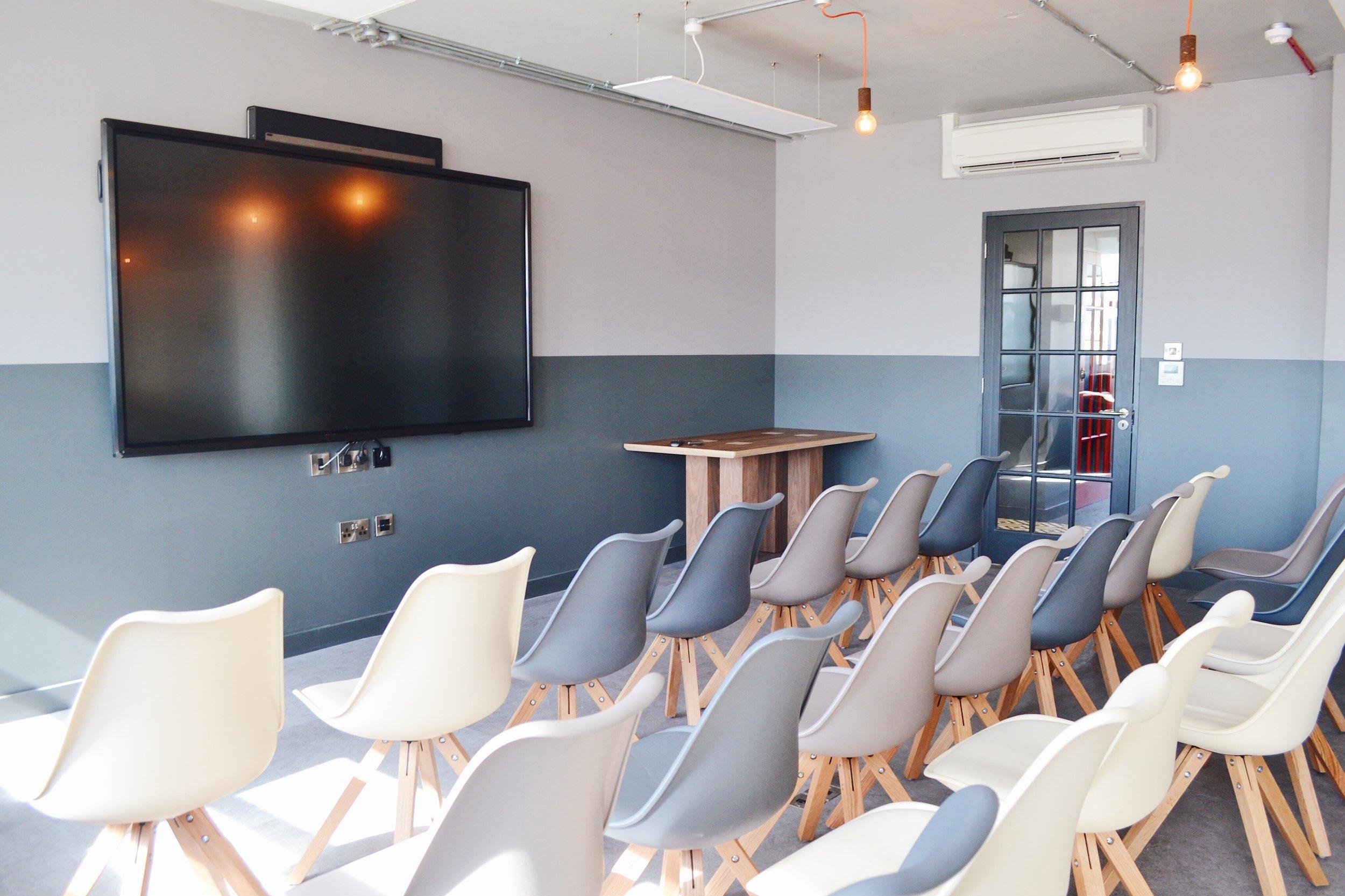 Black Meeting Room theatre style