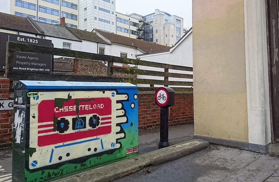 Cassette Lord's Street Art, North Road, Brighton. Photo Credit:  inspiringcity.com