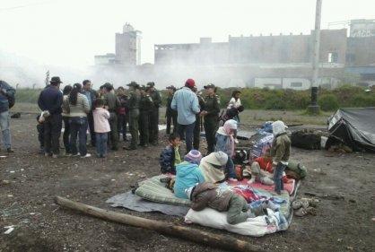 Displaced communities in Downtown Bogota. Source: RCN La Radio