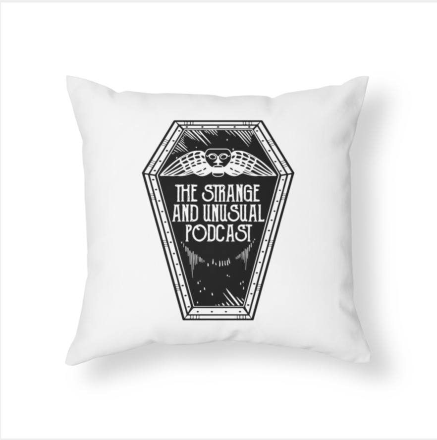 Coffin Logo Throw Pillow - $20, purchase at this link