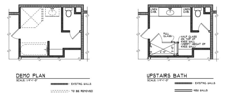 Upstairs Bath Plan