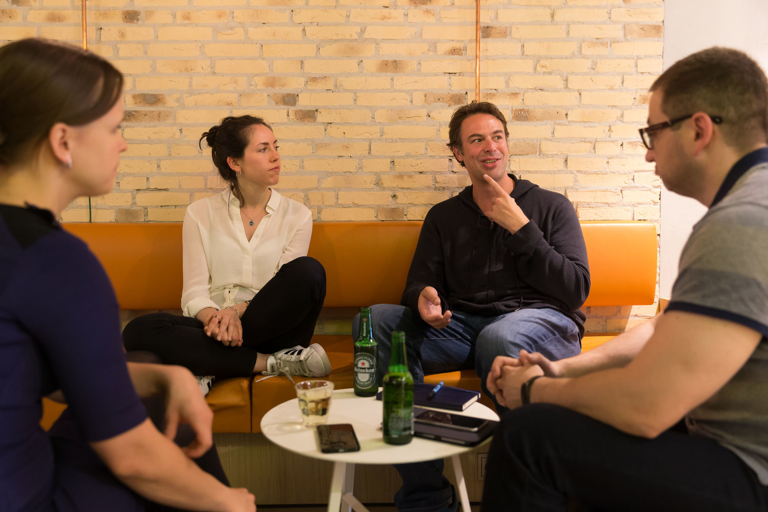 Alexei and Catriona (Desolenator) getting to know their mentors Vladimir and Jitka