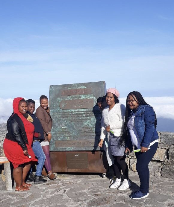 At the top of Table Mountain.