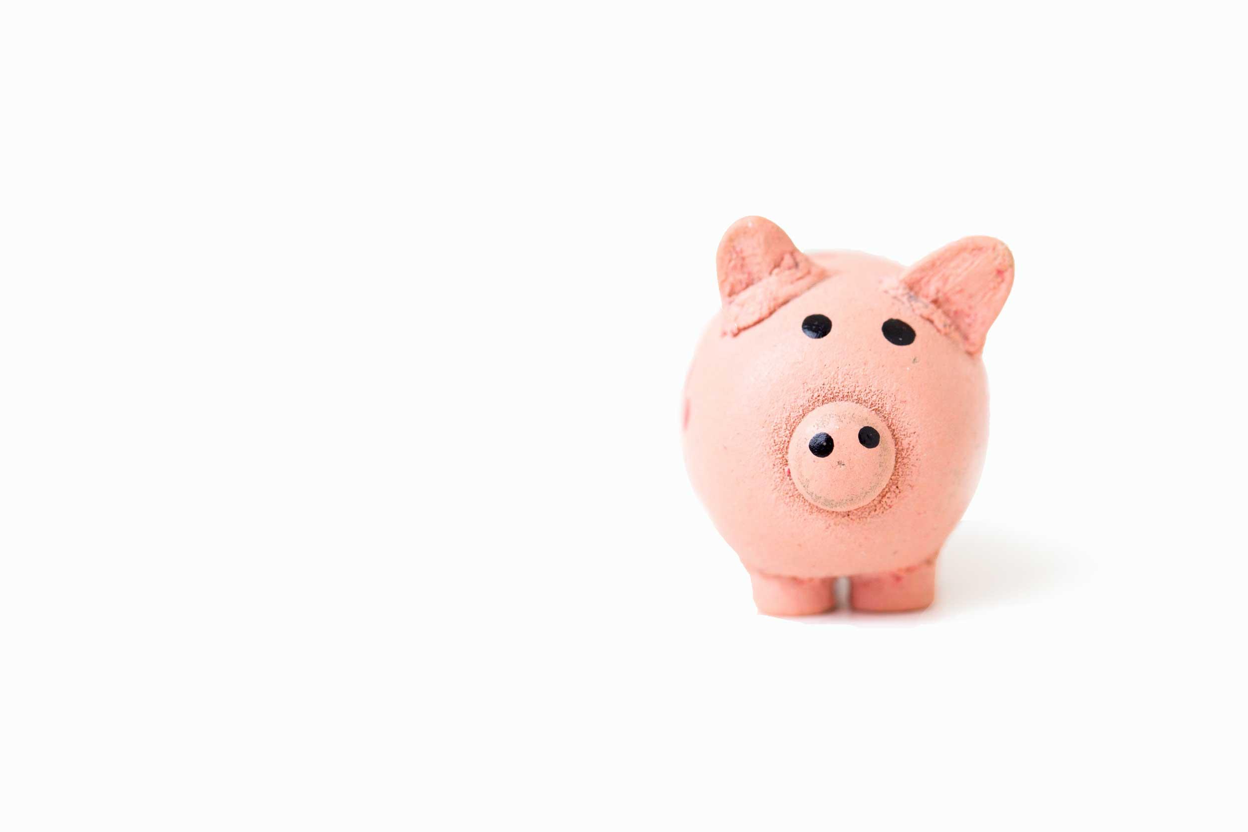 Clay piggy bank