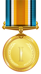 Image of a gold medal