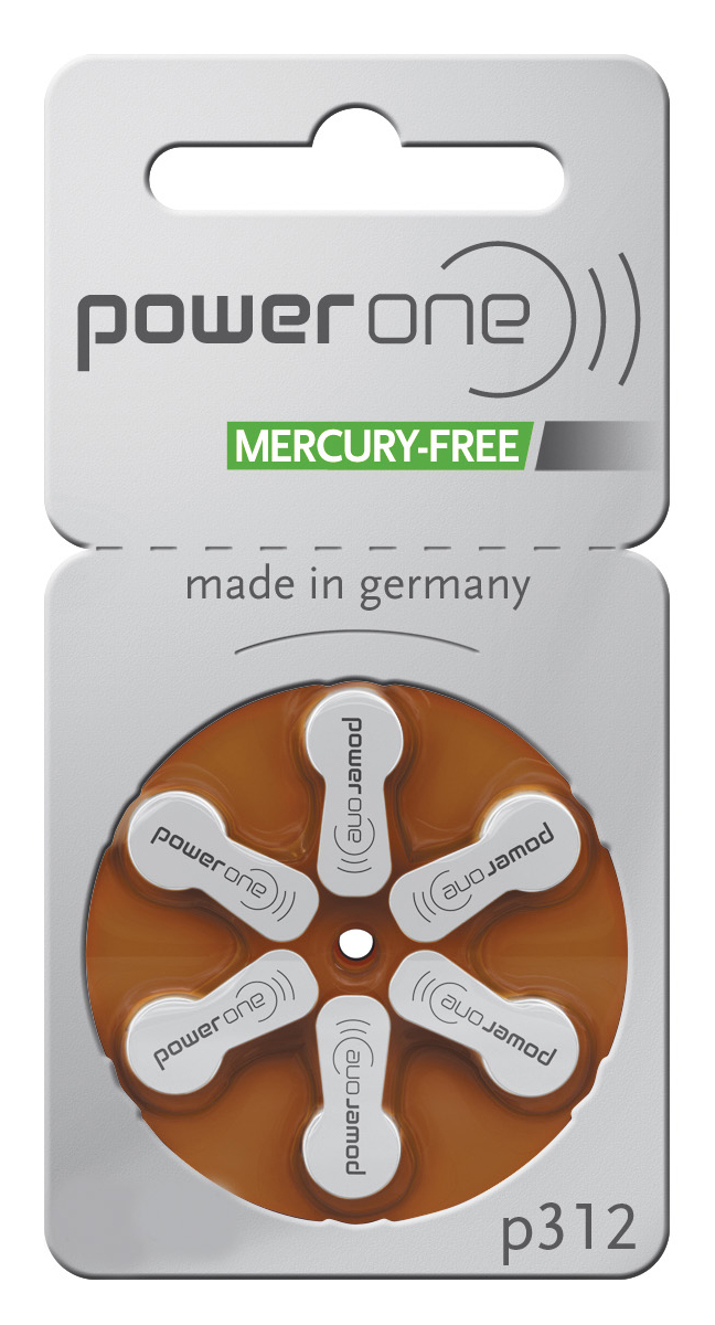 Power One Hearing Aid Batteries Size 312 - 60 Batteries