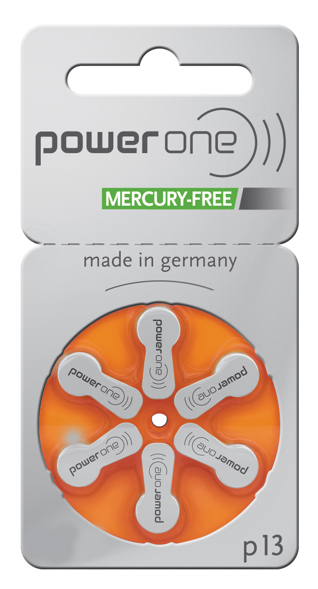 Power One Hearing Aid Batteries Size 13 - 60 Batteries