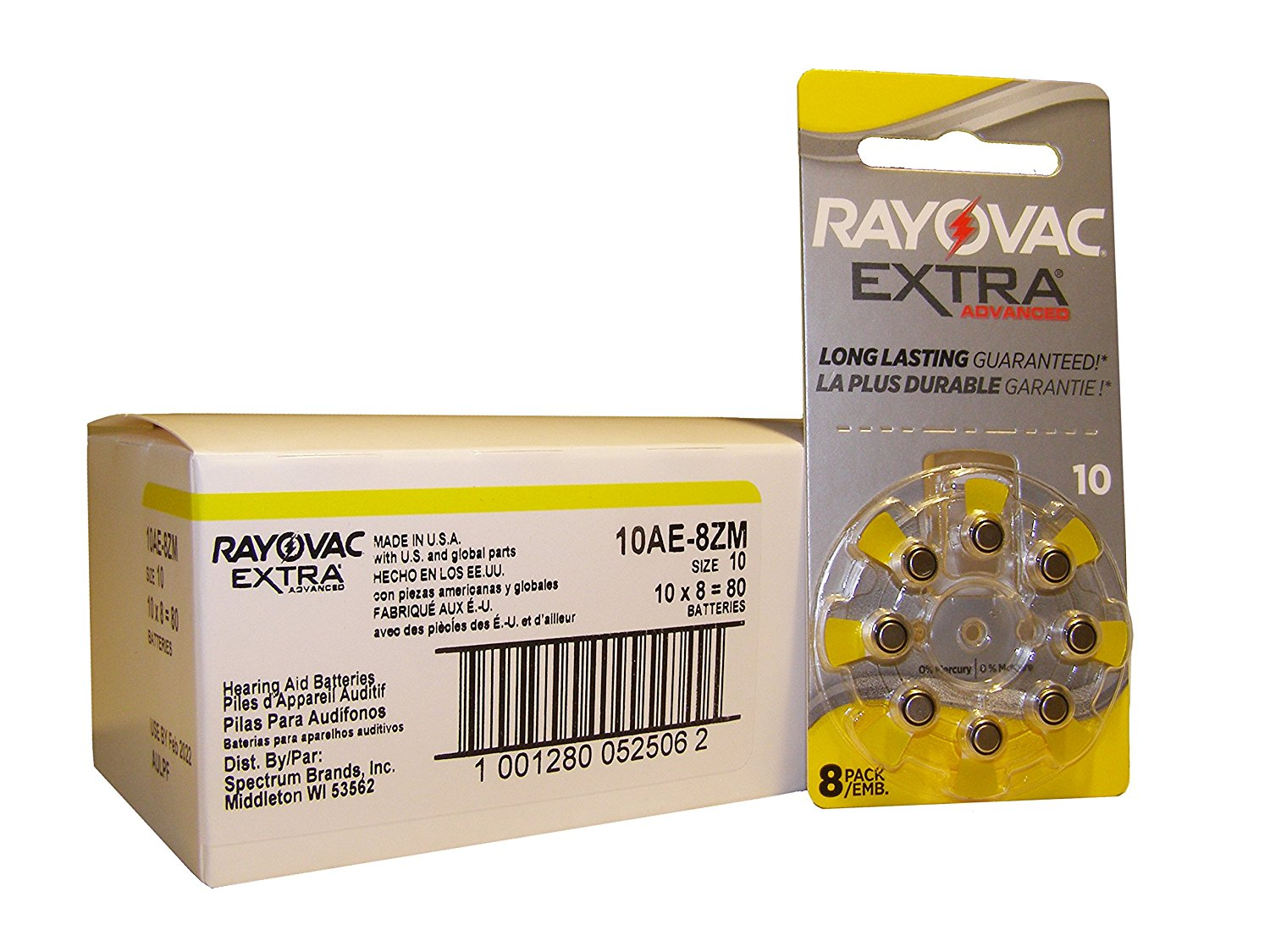 Rayovac Hearing Aid Batteries Size 10 - 60 Batteries