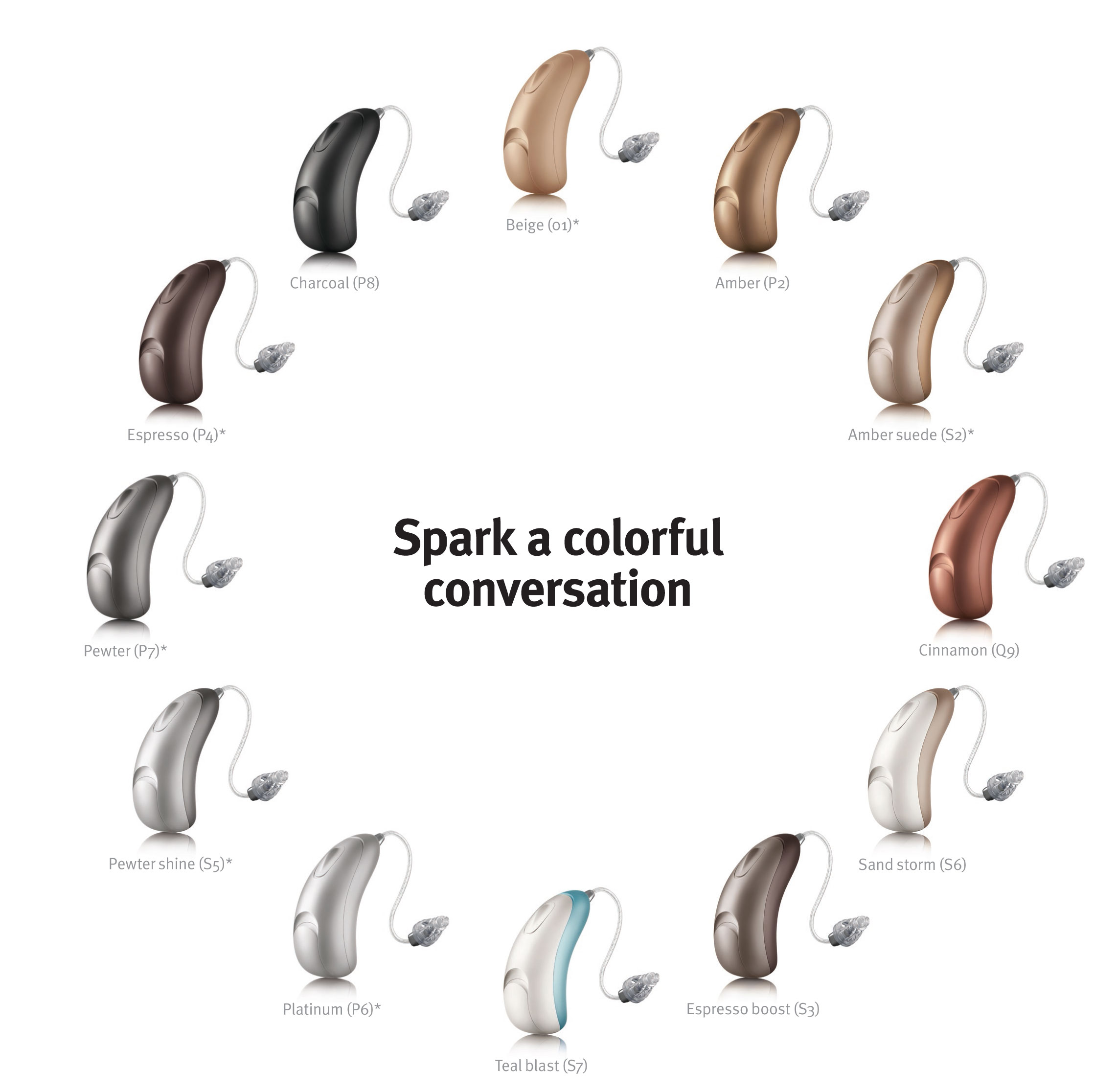 Unitron Moxi All Hearing Aid Colour Chart