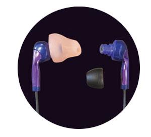 Headphones with a custom earpiece
