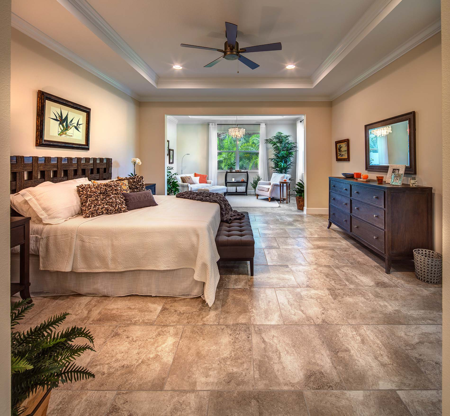 Elegant Interior Single Family Master Bedroom Sandhill Lake