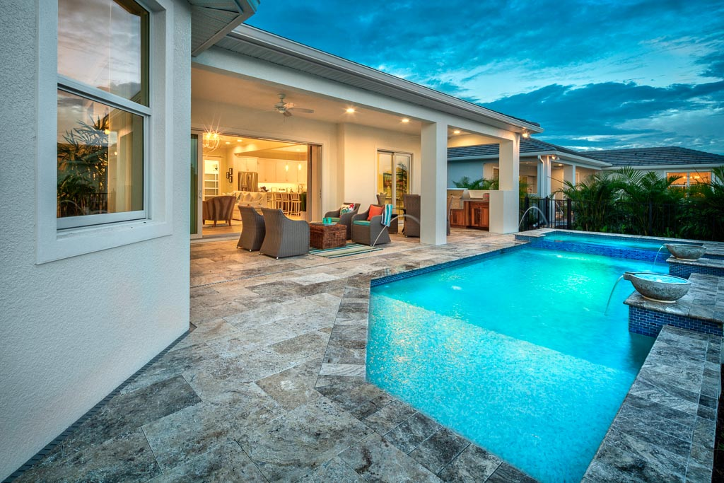 Lagoon Pool New Home Community Sarasota