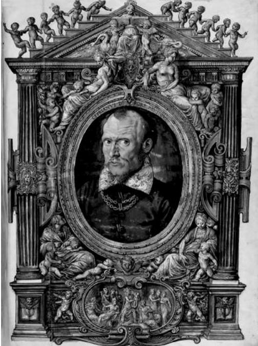 Hans Müelich, portrait de Cipriano de Rore