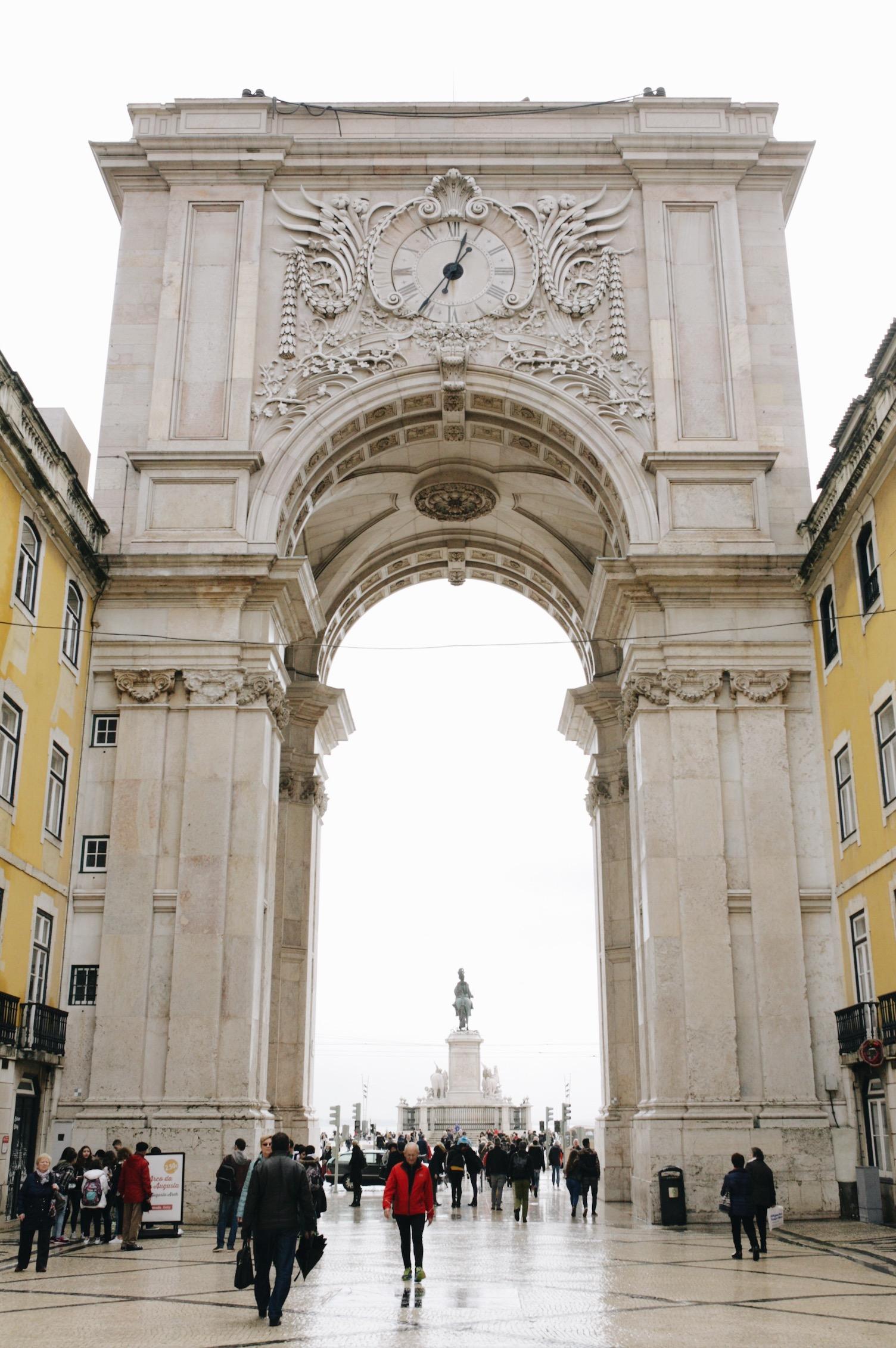 rue augusta arch, lisbon