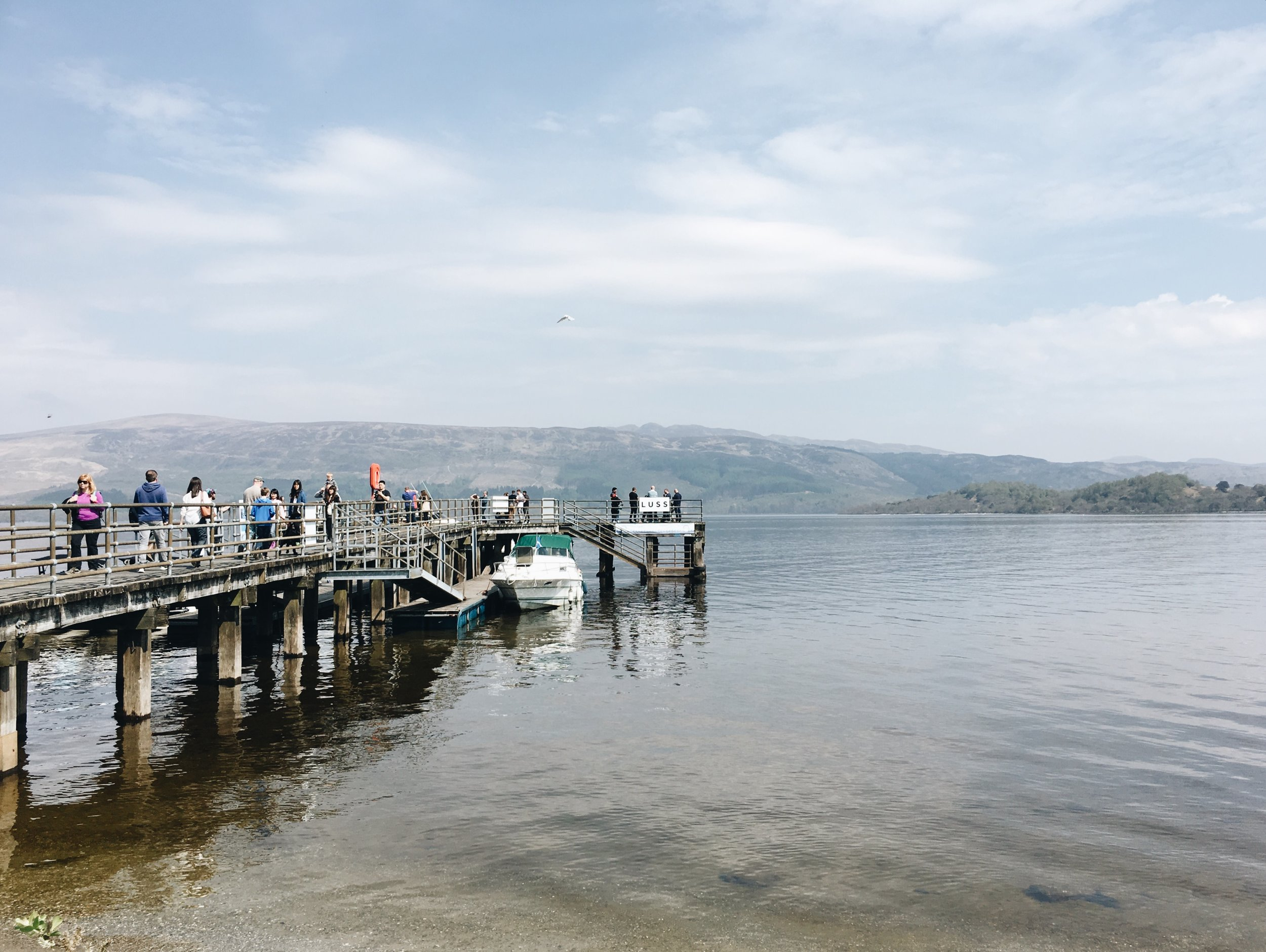 Dock in luss