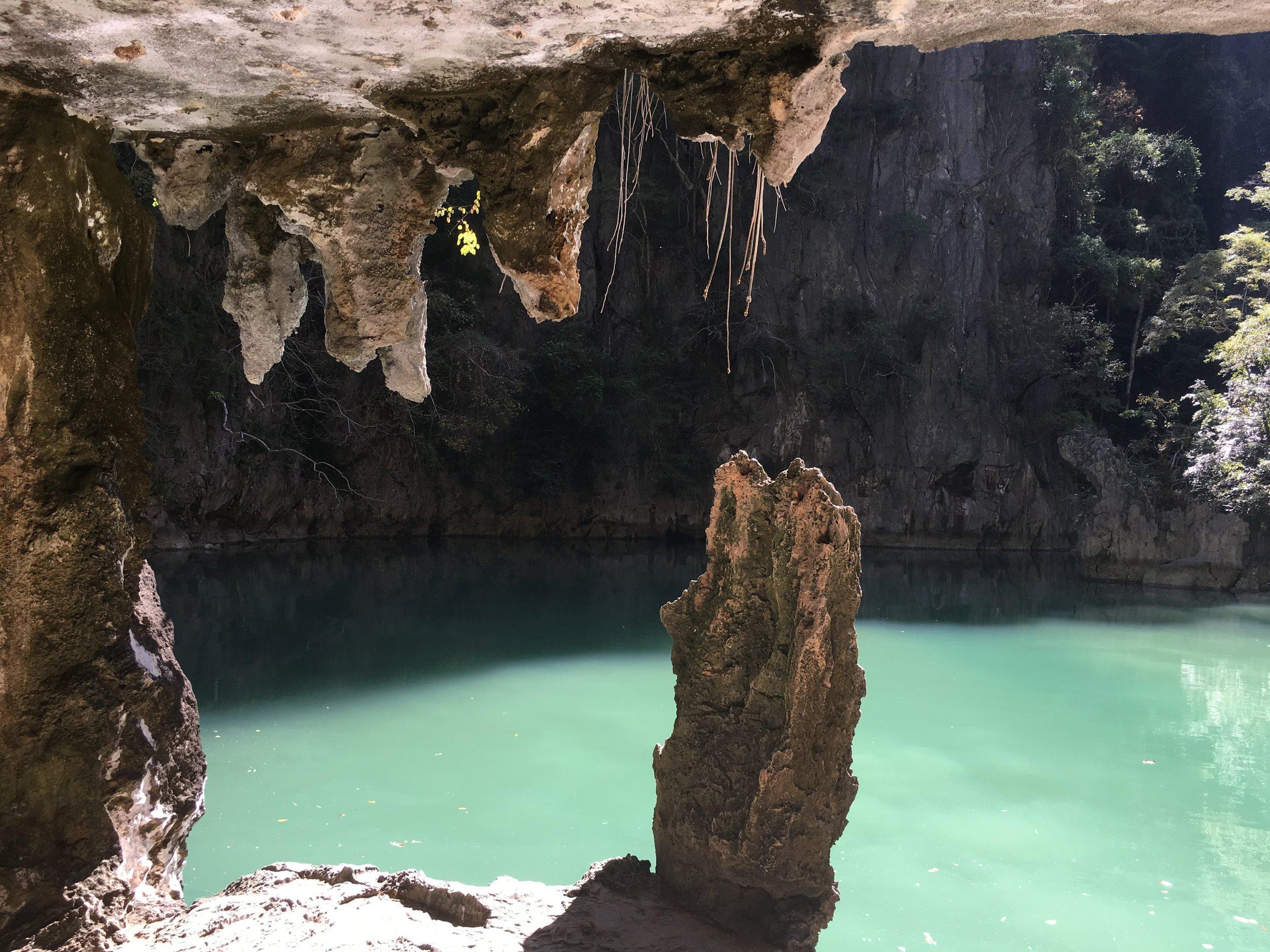 secret pool inside a cave!