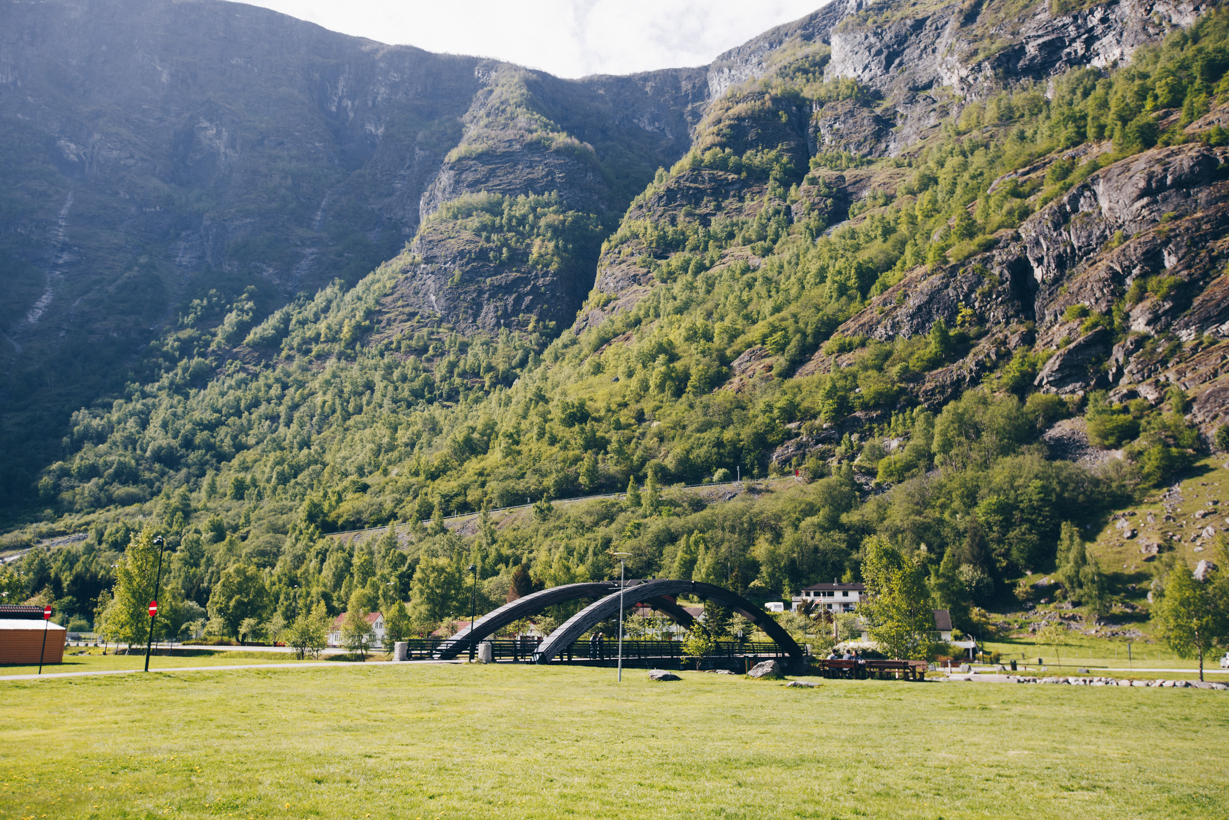bridge from flam center to the main road