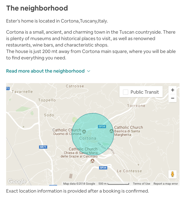 Helpful info & map from the airbnb listing