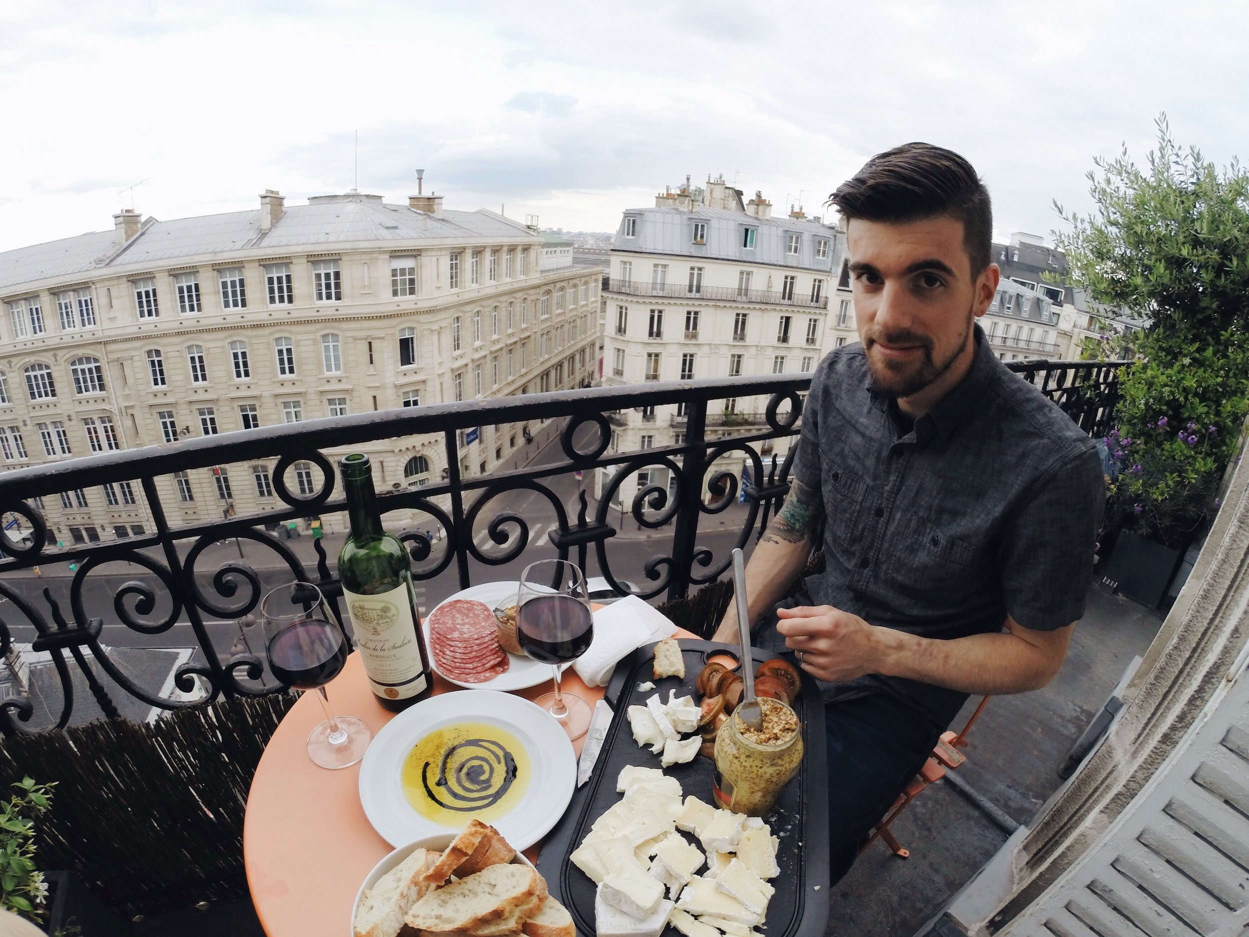 my favorite balcony ever in our paris airbnb