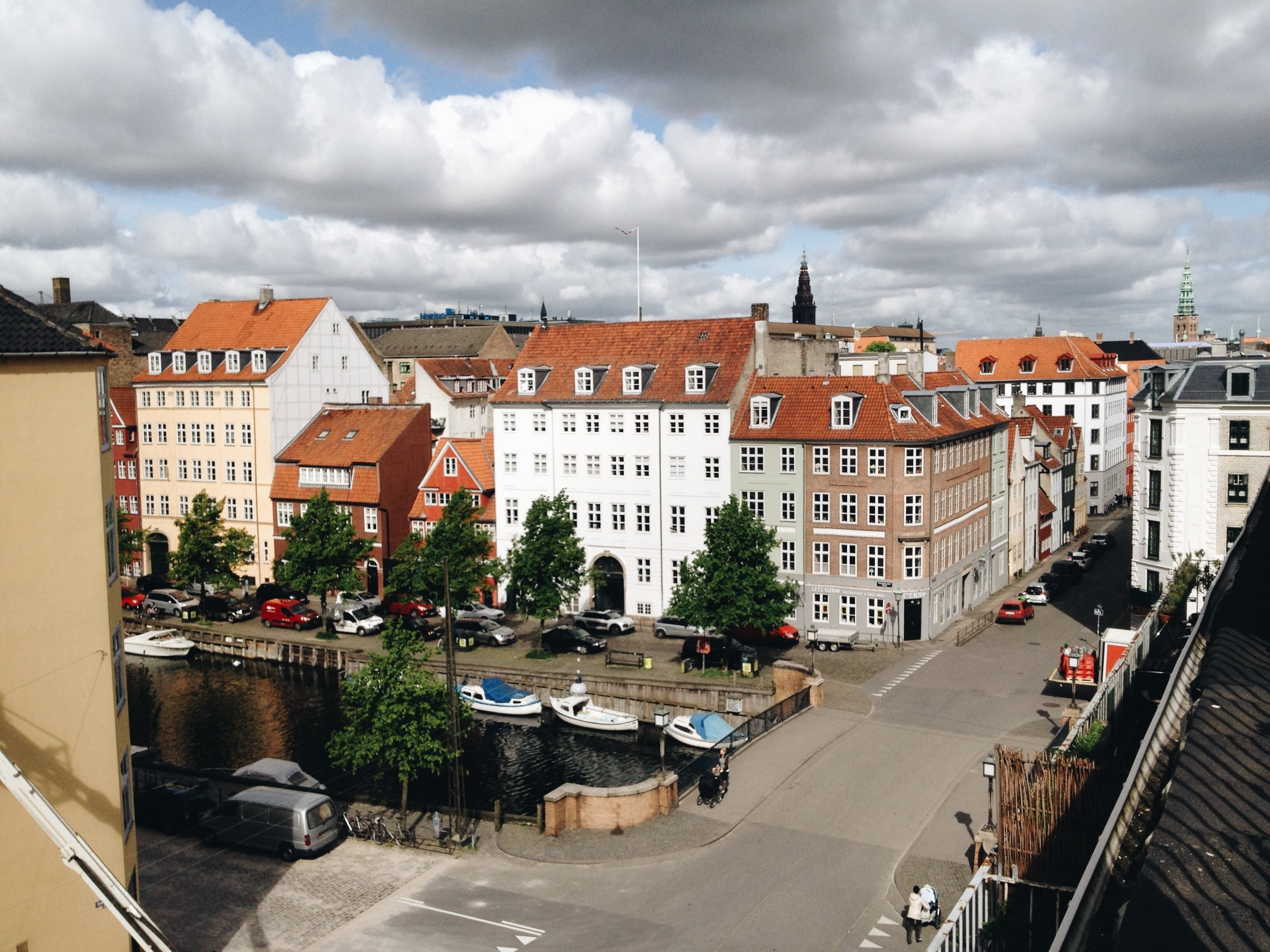 the view from our copenhagen airbnb patio