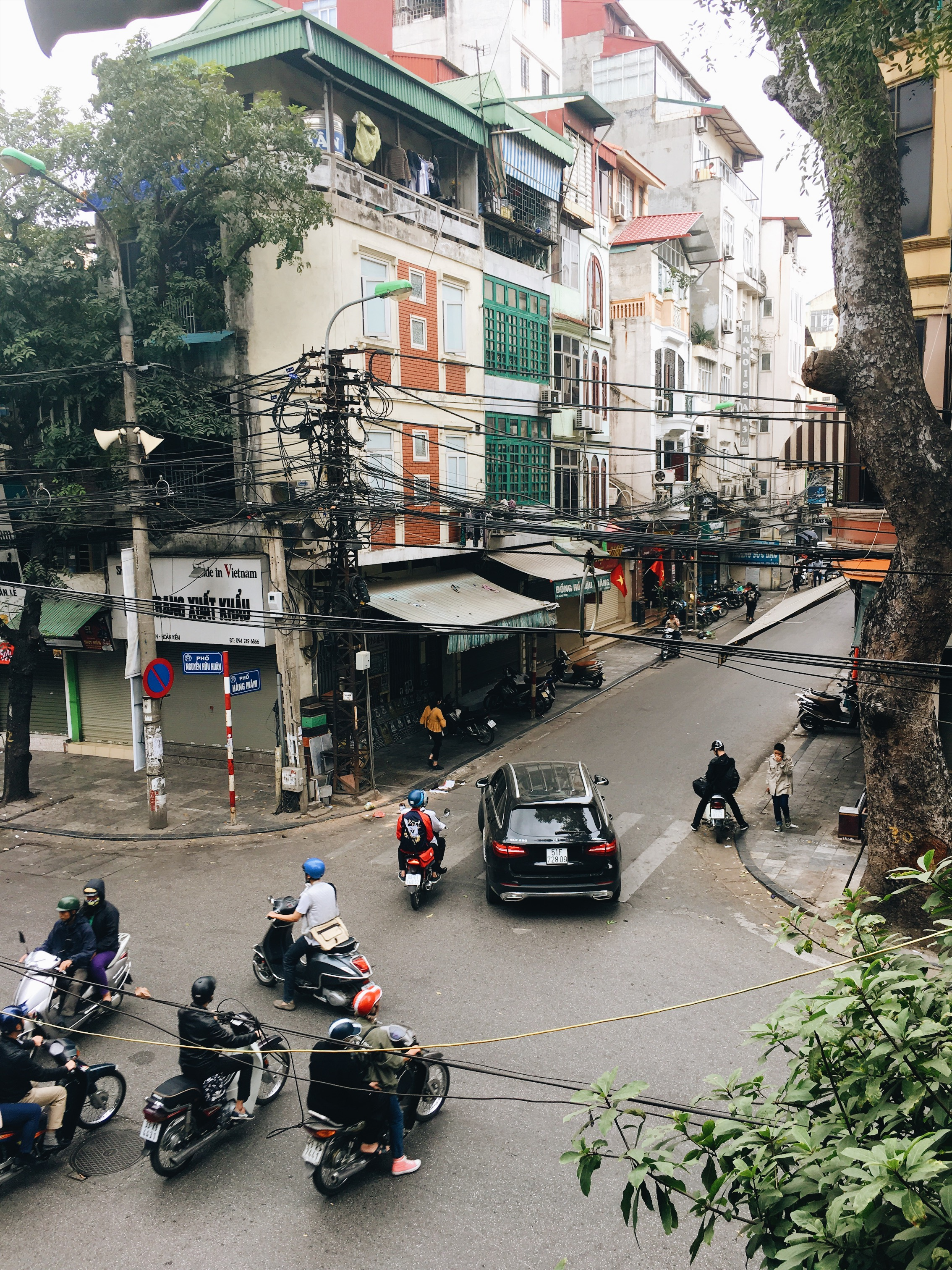 view of the streets from cong coffee shop