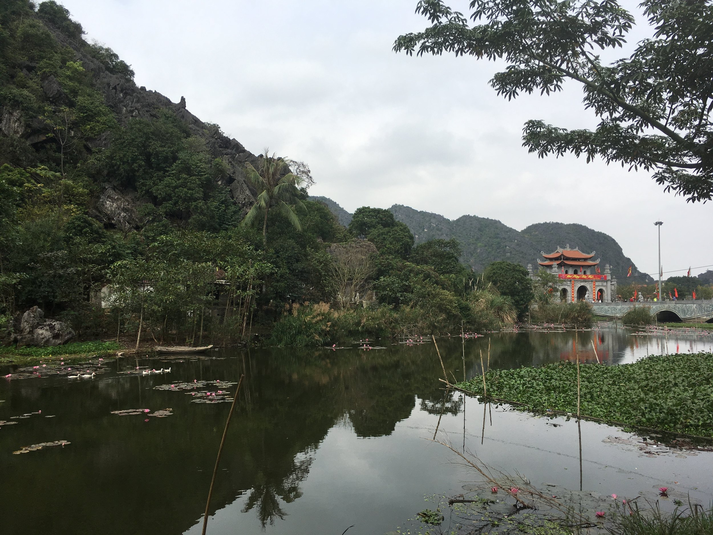 arriving in ninh binh to this beautiful landscape