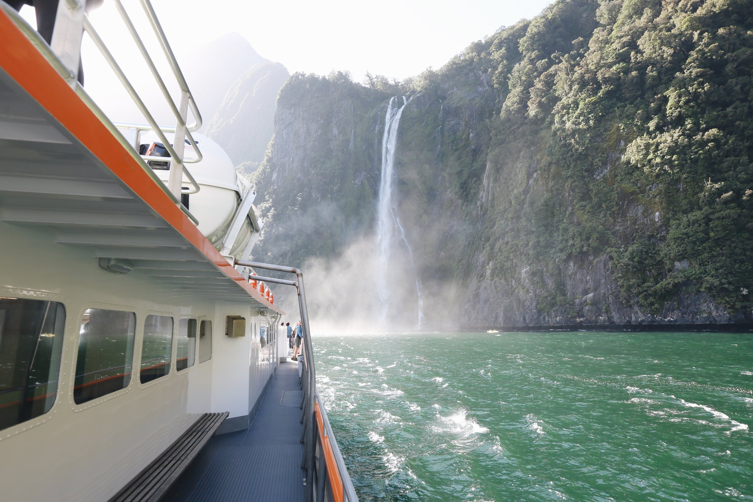 Cruising Milford Sound with Go Orange -