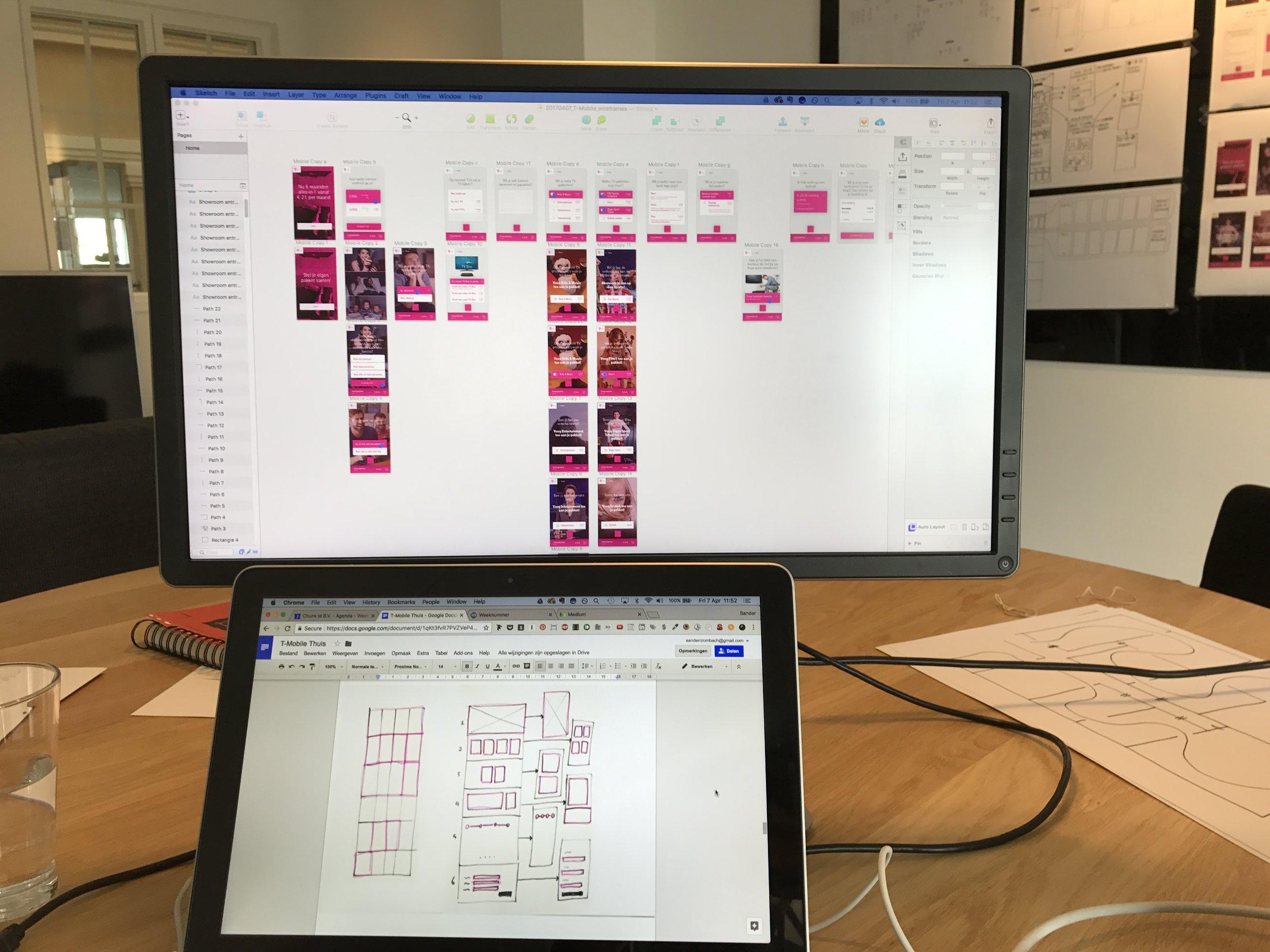 Designing the screens